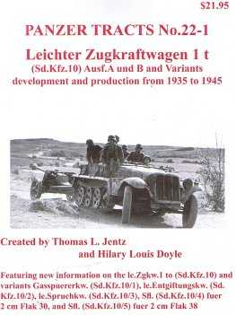 Leichter Zugkraftwagen 1 t (Sd.Kfz.10) Ausf.A und B and Variants development and production from 1935 to 1945