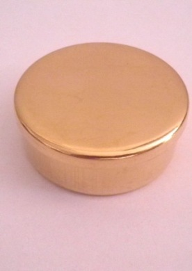 Cap or Pill Box in Brass by Tedd Cash