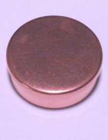 Cap or Pill Box in Copper by Tedd Cash