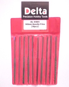 10 x Assorted Medium Cut 140mm Steel Needle Files