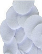 White 100% Cotton Flannel Round Gun Cleaning Patches, Qty: 100 - .45-.58 cal., 28 GA, 9mm