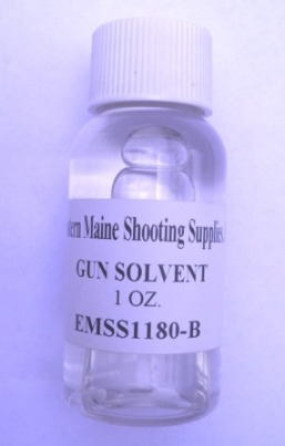 Premium Gun Solvent - removes powder, lead and copper residue - 1oz bottle