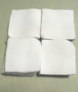 White 100% Cotton Flannel Square Gun Cleaning Patches, Qty: 500 - .45-.58 cal, 28 GA, 9-10mm
