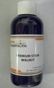 Premium Stain Walnut - a dark walnut gun stock stain - 4oz bottle