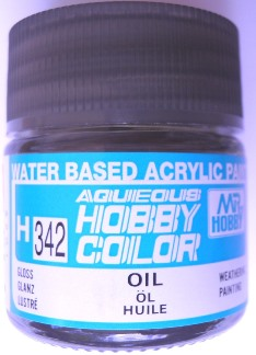 Mr Hobby - Aqueous Acrylic Weathering Colour - Gloss Oil 10ml bottle