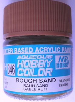 Mr Hobby - Aqueous Acrylic Weathering Colour - Flat Rough Sand 10ml bottle