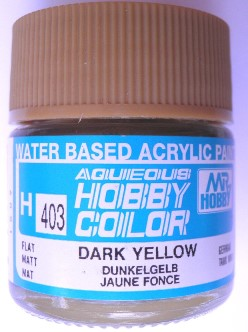 Mr Hobby - Aqueous Acrylic WWII Dark Yellow - 10ml bottle