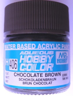 Mr Hobby - Aqueous Acrylic WWII Chocolate Brown - 10ml bottle