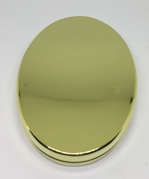 Oval Tinder Box - in Brass - by Tedd Cash