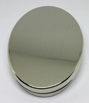 Oval Tinder Box - in German Silver - by Tedd Cash