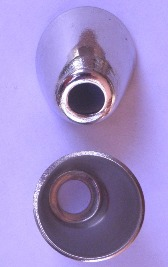 "Flash Cup for Percussion Musket/Rifle/Shotgun - German Silver U.S. (1/4"" hole)"