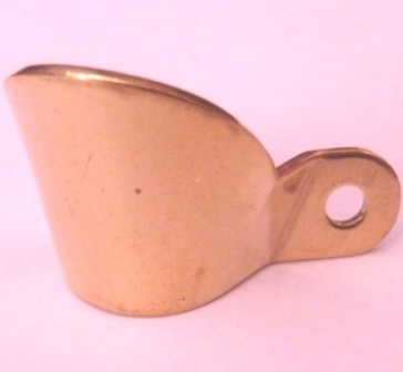 Black Powder Musket Flashguard - Brass - Small Musket