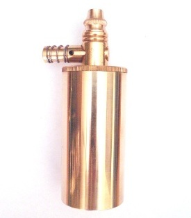 "Treso Brass Powder Flask with Pouring Spout – 2 3/4"" length"