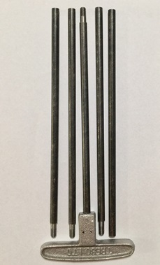 "Steel Black Powder Cleaning Rod set - .36 cal and larger - 44"" length - 10/32 thread"