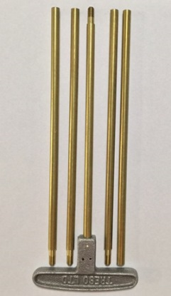 "Brass Black Powder Cleaning Rod set - .36 cal and larger - 44"" length - 10/32 thread"