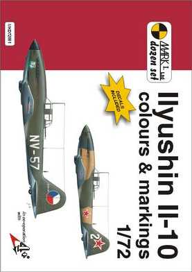Ilyushin IL-10 colours and Markings 1/72 Scale Decals