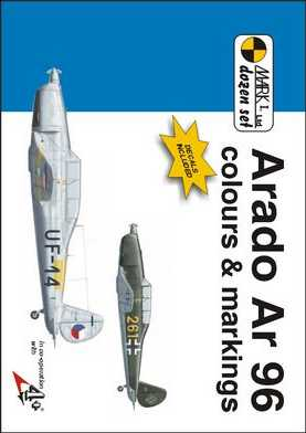 Arado Ar 96 Colours and Markings 1/48 Scale Decals