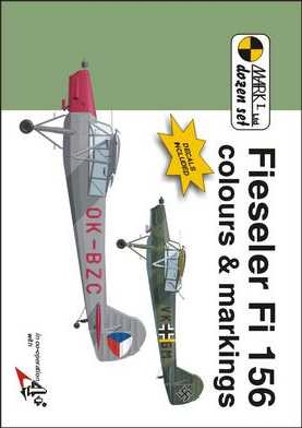 Fieseler Fi 156 colours and Markings 1/48 Scale Decals