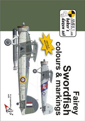 Fairey Swordfish Colours and Markings 1/72 Scale Decals