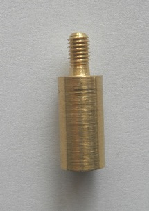Brass Adaptor 10/32 male to 5/16-27 female