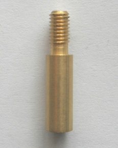 Brass Adaptor 10/32 male to 8/32 female