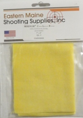 Premium Lube 100% Cotton Flannel Gun Wipes