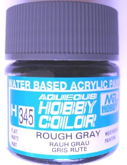 Mr Hobby - Aqueous Acrylic Weathering Colour - Flat Rough Grey 10ml bottle
