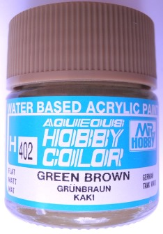 Mr Hobby - Aqueous Acrylic WWII Green Brown - 10ml bottle