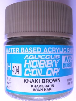 Mr Hobby - Aqueous Acrylic WWII Khaki Brown - 10ml bottle