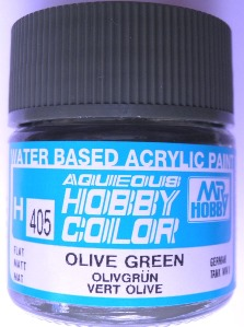 Mr Hobby - Aqueous Acrylic WWII Olive Green - 10ml bottle