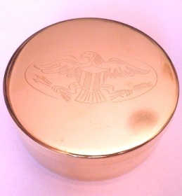 Snuff Box in Brass inscribed with Eagle by Tedd Cash