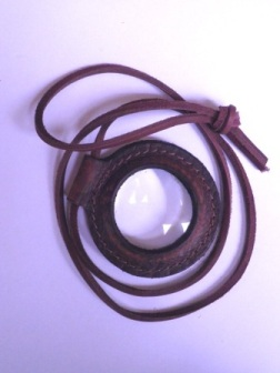 Magnifying Lens for Fire Starting - Large Lens mounted in a Leather case