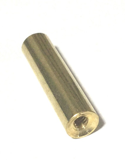 "Ramrod Tip in Brass - 8/32 thread - 1/2"" diameter rod"